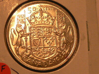 Canada 1945 50 Cents Silver Very Nice Condition