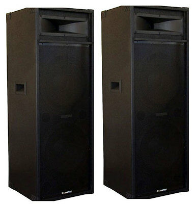 "Brand New 2 X 15"" Matsutec Speakers 1600 Watt /dj Speakers"