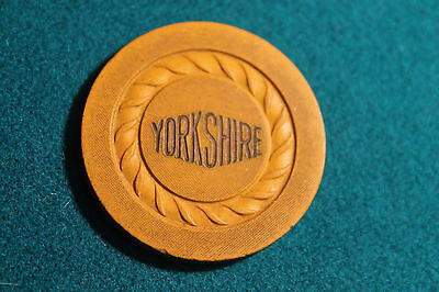 Yorkshire Club Casino Chip Newport Ky. Illegal Yorkshire/Y yellow
