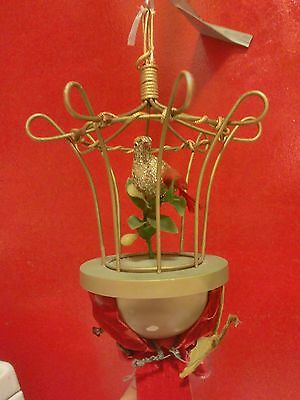 Antique Musical Bird Cage Working Music Box Fully Funtional All Original