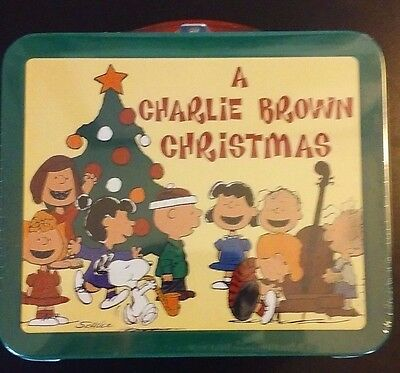 Peanuts Hallmark School Days Lunchbox A Charlie Brown Christmas Sealed NIP