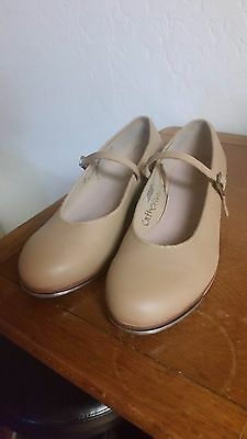 BLOCH Ladies Genuine Leather Tap Shoes Size 8