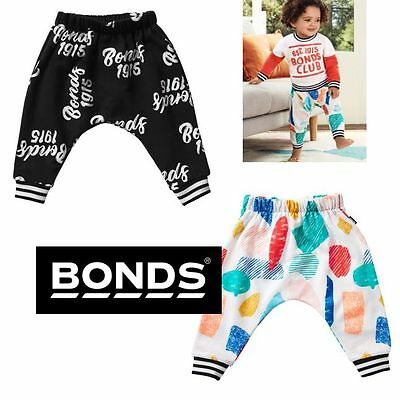 Baby Bonds Boys Girls Retro Ribs Trackies Pants Casual Slouch Cotton By3Da