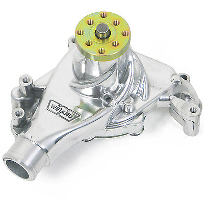 Weiand  Water Pump Mechanical Action Plus Long High-Volume Aluminum Polished Che