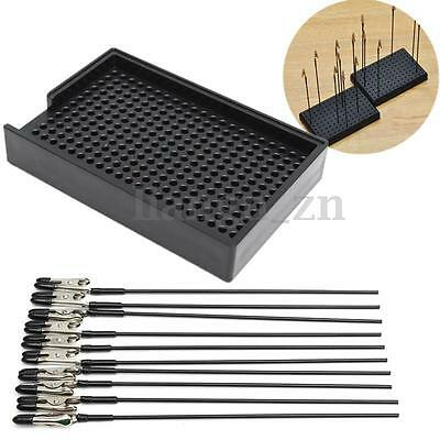 Model Spraying Modeling Tools Black Painting Stand Base And Alligator Clip Set