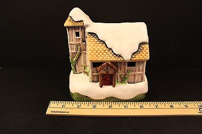Lighted Musical House Cottage White Christmas