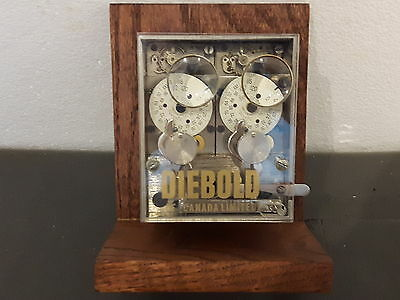 Mint Condition Diebold Of Toronto Canada 2 Movement Timelock Very Rare.