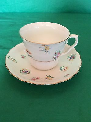 Colclough China Made In Longton England Cup & Saucer