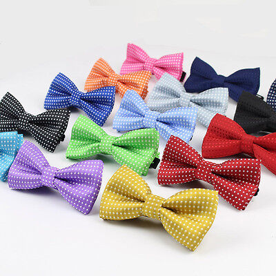 New Kids Formal Cotton Butterfly Dot Print Bow Tie Kids Solid Boys Bowtie