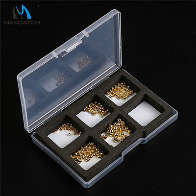 Maxcatch 2.0 - 3.8mm 5 Sizes Tungsten Nymph Fly Tying Head Ball Beads & Box