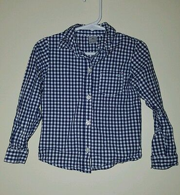 Boys Toddler Blue and White Button-Up Carter's Shirt - Size 4T