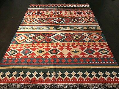 """Unique Persian Kilim Rug 5'9""""*7'9"""" , 100% Handwoven by south persian nomads."""