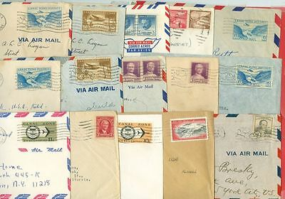 Canal Group of 15 Small Commercial cover to USA Lot#3906