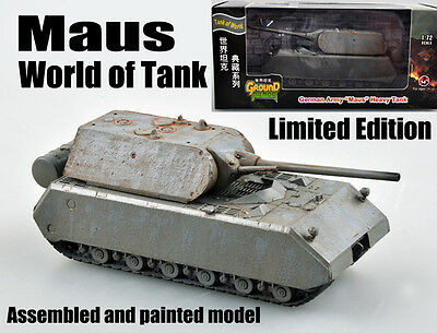 WWII German maus mouse Tank of world limited edition 1:72 diecast Easy Model