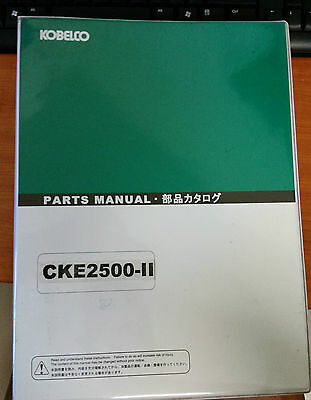 Kobelco Parts Manual CKE2500-II