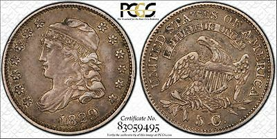 1829 PCGS XF 45 Silver Capped Bust Half Dime 5c US Coin Item #10026XT