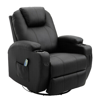 Microfiber Sofa Chair Heated Vibrating Reclining With Remote Control Modern