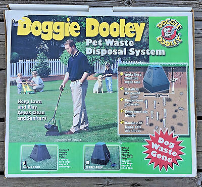 doggie dooley 3500 waste disposal model pet system 1 2 dogs new toilet potty out