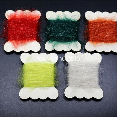10 Cards Assorted Colors Ice Dubbing Thread Nymph Tying Body Fly Tying Materials