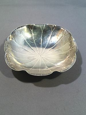 Antique Vintage Chinese Silver Dish. Small.