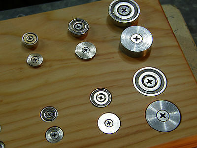 Magnet Pot Cup Door Catch / Strike Plate / 10mm 12mm 16mm 25mm / with Screws