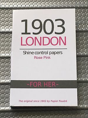 "1903 London for Her ""Rose Pink"" Shine Control Papers Face Oil Skin Blotting"