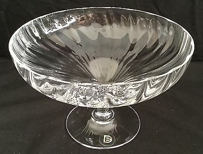 Vintage Darlington Crystal Ripple Pedestal Dish