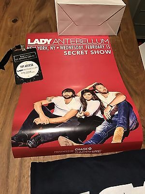 Lady Antebellum Artists Den PROMO Kit Secret concert lanyard t-shirt poster rare