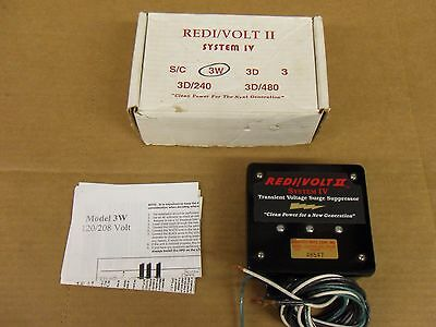 Redi/Volt II System IV 3W 120/208 Volt Transient Voltage Surge Suppressor