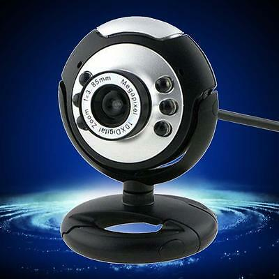 HD 12.0MP 6 LED USB Webcam Camera with Mic Night Vision for Desktop PC Laptop IH