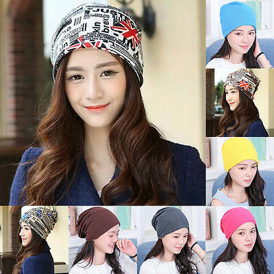 Unisex Women Men Knit Winter Warm Ski Crochet Slouch Hat Cap Beanie Baggy Cotton
