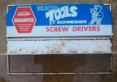 selected tools by schneider screw drivers vintage dispenser