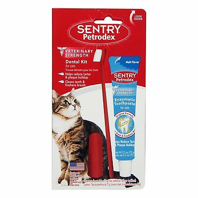 Sergeants Sentry Petrodex Dental Care Kit For Cats Toothbrush Toothpaste