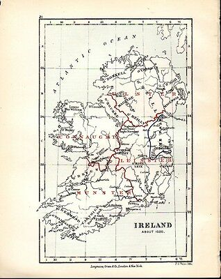 Ireland, About 1500 AD Atlas of English History map 21