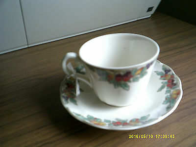 cup and saucer Autumn fruit deceased estate