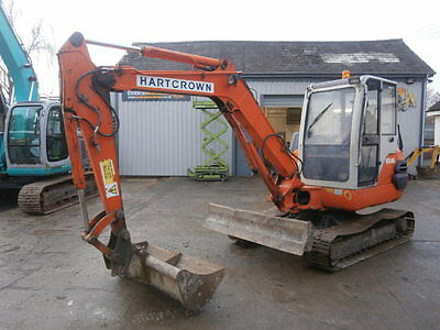 Hitachi EX45-2 Digger Excavator Steel tracks Quick Hitch & 1 Bucket