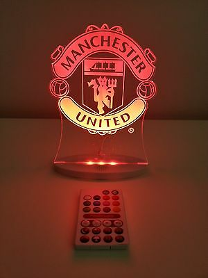 MANCHESTER UNITED LED Light -Official Club Merchandise (Gift, Birthday)