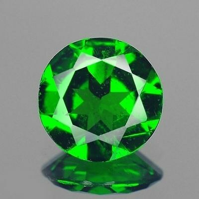 0.68ct 6mm Natural Loose Gemstones Cute Round Chrome Green Diopside Free Ship