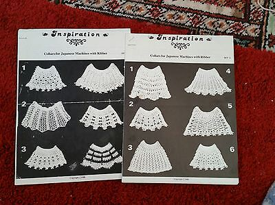 2 collar pattern book for knitting machines. please see description and photos