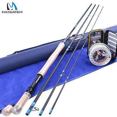 Maxcatch Switch Fly Rod Combo 11FT 7WT Fly Rod, 7/8WT Fly Reel, WF7F Line, Flies