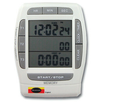 Digital Triple Kitchen Timer & Clock - Cooking Catering Kitchen - 28/214/0