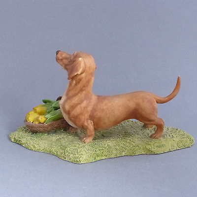 Dachshund Vintage Heredities Figurine Ornament Signed by Spouse