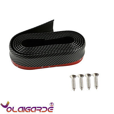 UK 2.5M Car Lip Skirt Protector Carbon Fiber Front Bumper Chin Spoiler Splitter