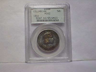1893 Columbian Exposition Commemorative Silver Half Dollar PCGS MS62 See Toning