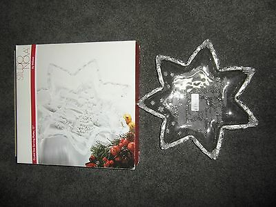 """NEW Christmas Day Crystal Star Serving Platter 13"""" by Mikasa"""