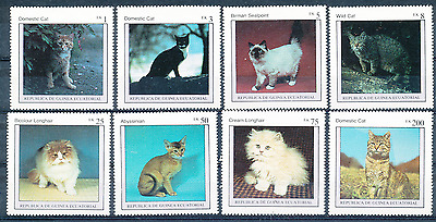 Guinee Equatoriale 1976 Chats N° Michel  797/804**