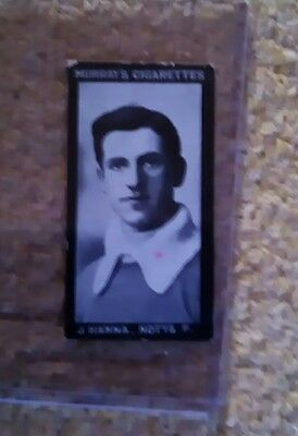 Murray's cigarettes football card J Hanna Notts Forest