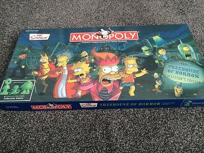 The Simpsons Monopoly Treehouse Of Horror Collectors Edition Board Game Rare