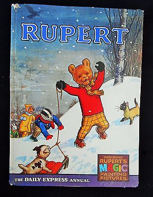 Vintage 50 Year Old  1967 Rupert Bear Annual, Magic Painting Untouched