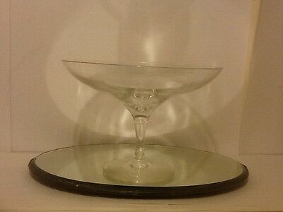 Beautiful,old Glass Tassa/fruit Stand Good Piece No Reserve